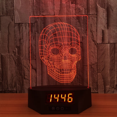 3D Digital Clock Skull Lamp - 3D Led Lamps