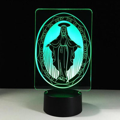 Christian Inspired LED Lamp set of (4 X ACRYLIC LIGHT PANELS) - 3D Led Lamps
