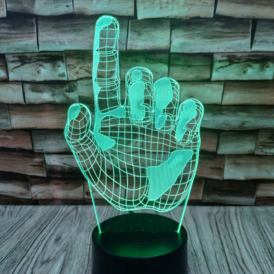 3D Hand  - Index Finger -  Illusion LED Lamp