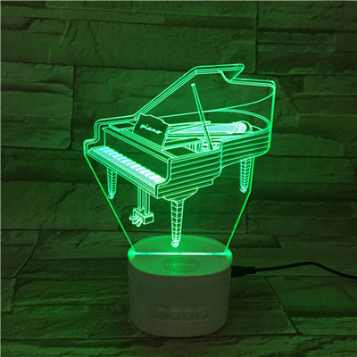 3D Bluetooth Piano lamp - 3D Led Lamps