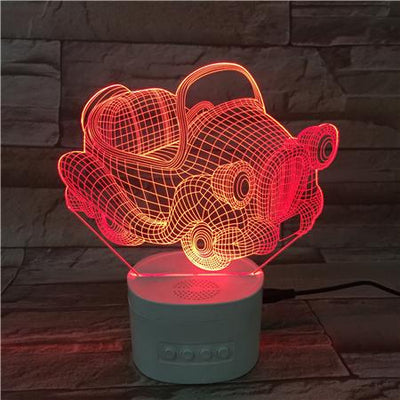 3D Bluetooth Beetle lamp - 3D Led Lamps