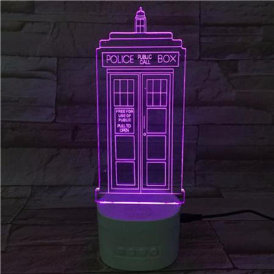 3D Bluetooth Police Box lamp - 3D Led Lamps