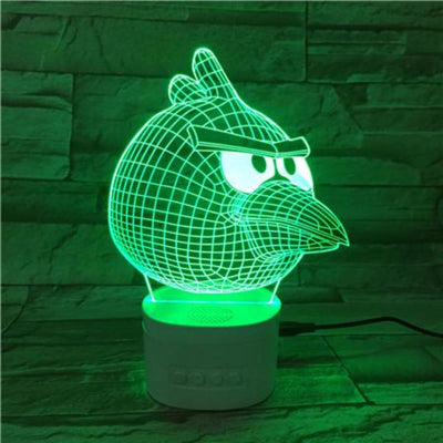 3D Bluetooth Angry Bird lamp - 3D Led Lamps