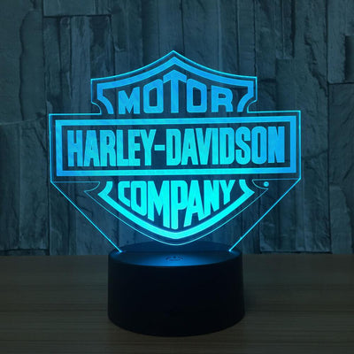 3D Harley-Davidson Inspired Illusion Lamp Multiple Lights - 3D Led Lamps