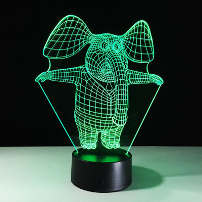 3D Little Elephant Illusion LED Lamp Multiple Colors - 3D Led Lamps