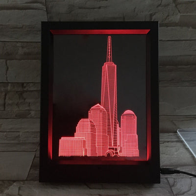 3D Building LED Photo Frame Lamp - 3D Led Lamps