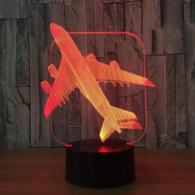 3D Illusion Flying Airplane LED Lamp - 3D Led Lamps