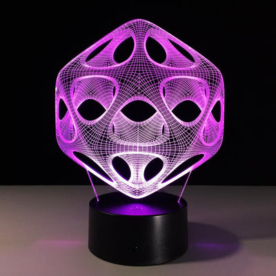 3D Abstract Illusion Ball Modern Art LED Lamp - 3D Led Lamps