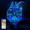 3D Millennium Falcon Illusion Lamp - 3D Led Lamps