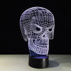 3D Spooky Skull LED Lamp - 3D Led Lamps