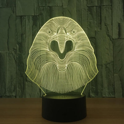 3D Illusion Parrot LED Lamp - 3D Led Lamps