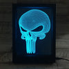 3D Long Skull LED Photo Frame Lamp - 3D Led Lamps
