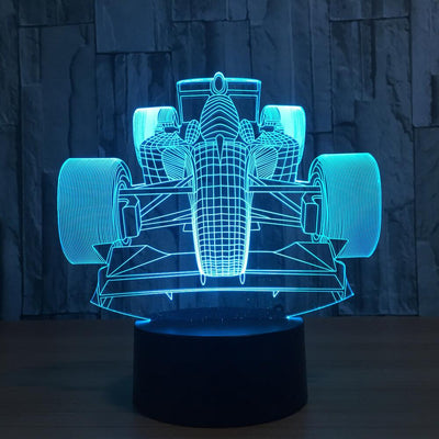 3D Racing Car Illusion LED Lamp Multiple Lights - 3D Led Lamps
