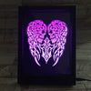 3D Snake Skulls LED Photo Frame Lamp - 3D Led Lamps