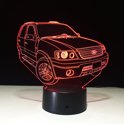 3D Ford Suv Auto Illusion LED Lamp - 3D Led Lamps