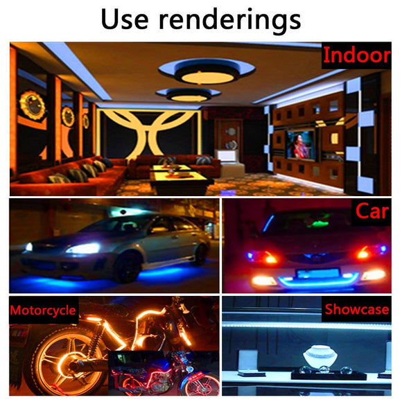 LED Strip Lights Kit DC12V 16.4 Ft (5M) with 44 key IR Remote Control - Super Best Deals Online