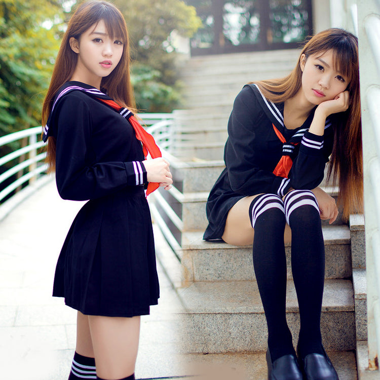 Japanese Sailor Suit Anime Cosplay Costume Girls High School
