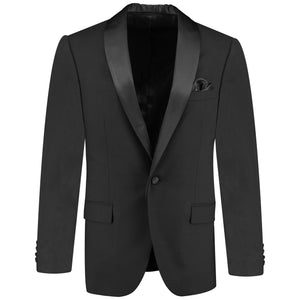 One button solid gray tuxedo with bow tie for men