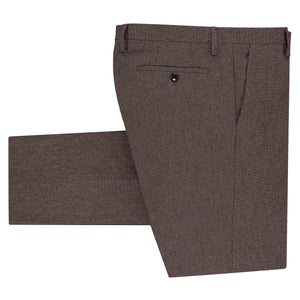 Folded dark red pants for men