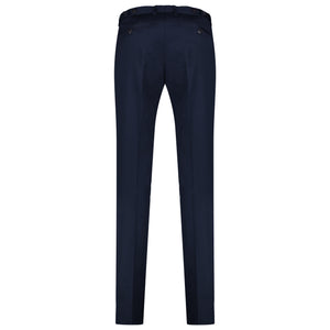 Back perspective of dark blue pants for men