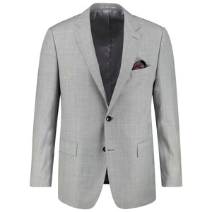 Slim fit light gray suit for men