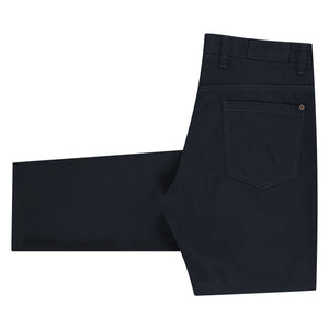 Folded form of Carmelo flat black pants for men