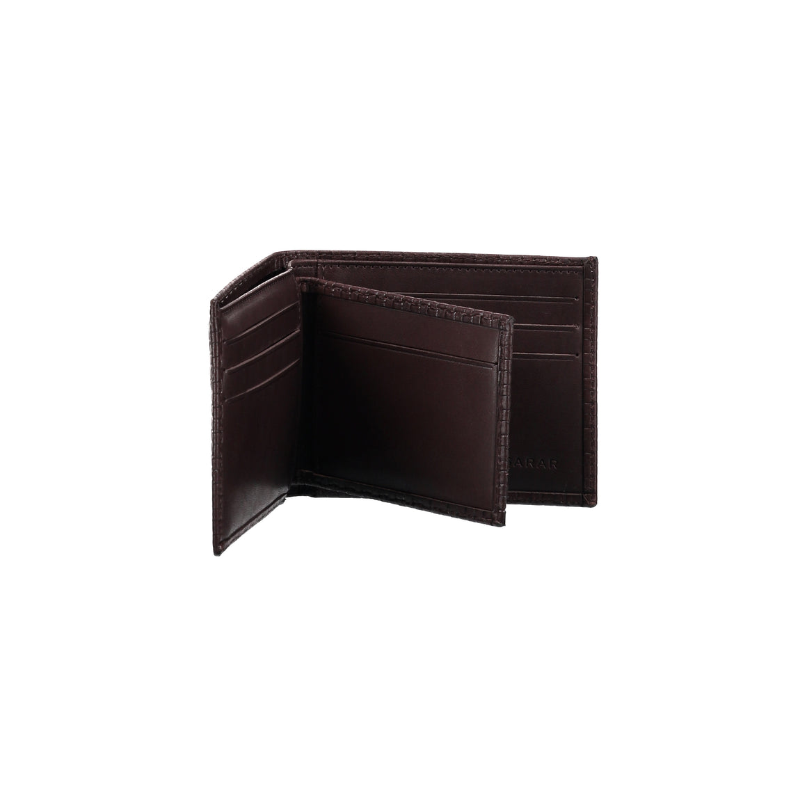 Brown bi-fold wallet for men