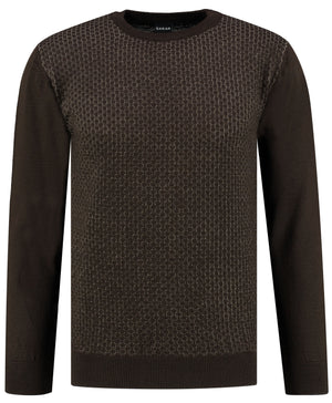 SARAR Classic Fit O-Neck Long Sleeve Pullover Sweater Knitwear for Men