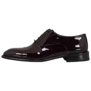 SARAR CCS Classic Lace-up Cap Toe Shiny Oxford Tuxedo Dress Shoes for Men