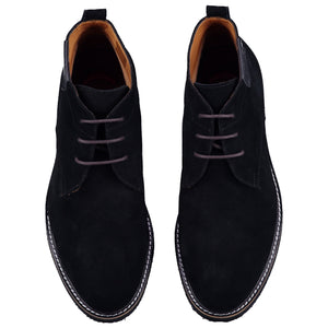Top perspective for black shoes