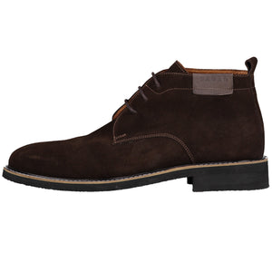 Side perspective for brown shoes