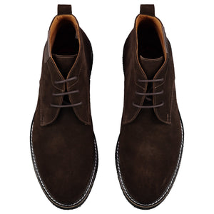 Top perspective for brown shoes