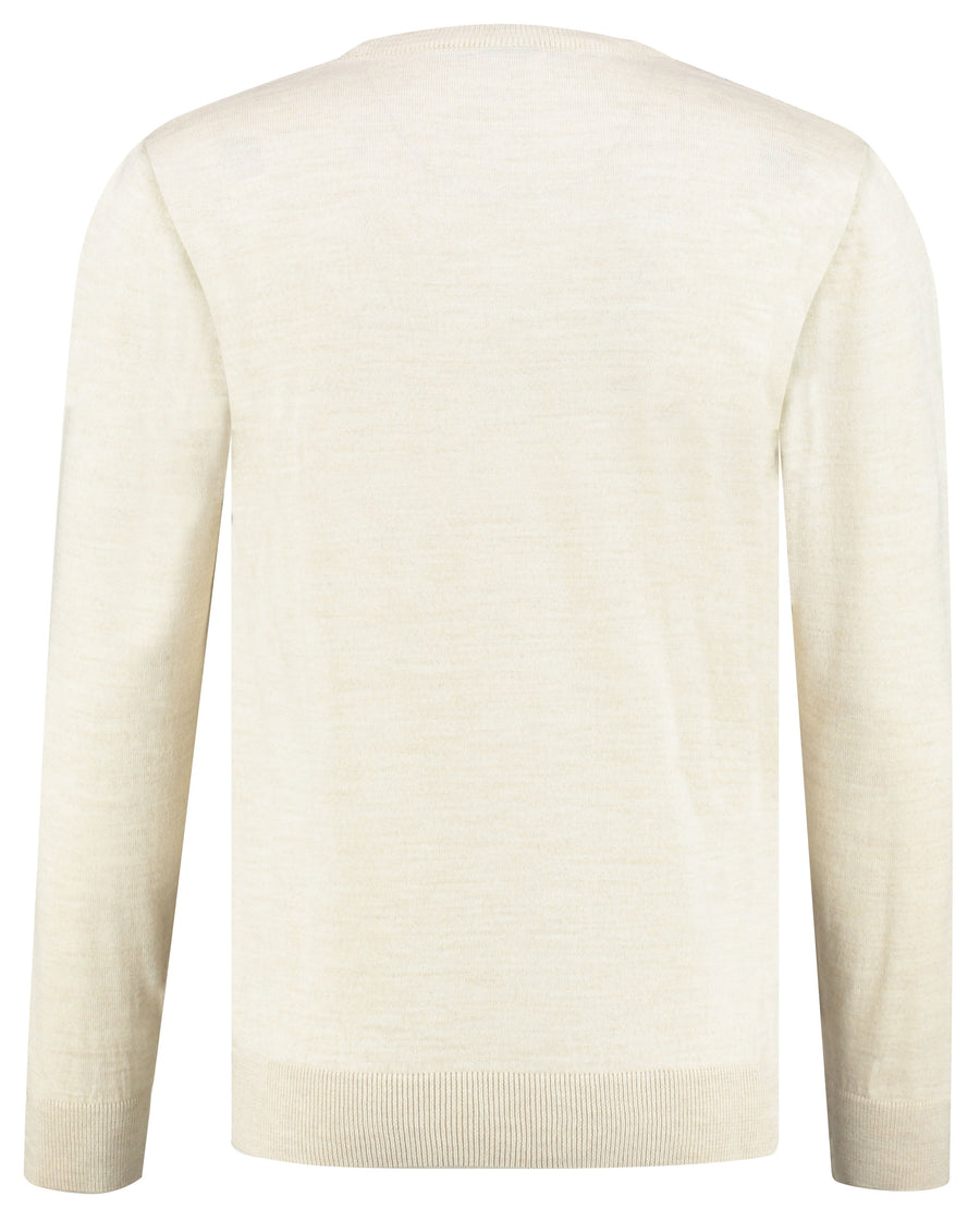 SARAR O-Neck Long Sleeve Pullover Sweater Knitwear for Men