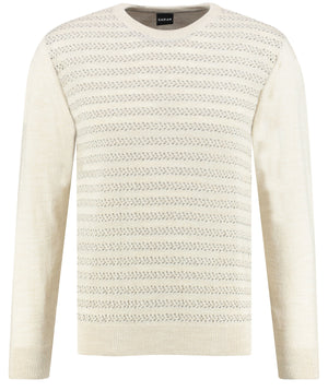 Beige sweater knitwear for men