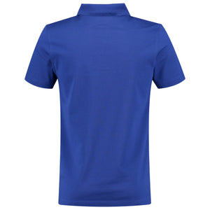 Back perspective of blue t-shirt for men