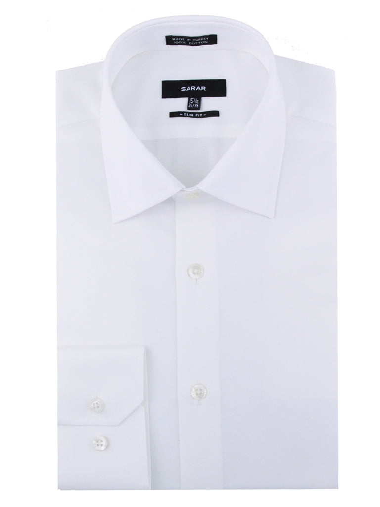 WHITE SPREAD (KENT) SOLID SHIRT
