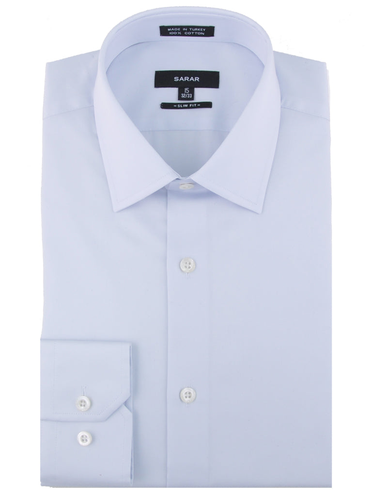 SKY BLUE SPREAD (KENT) SOLID SHIRT
