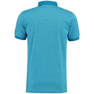 Back perspective for light blue t-shirt