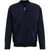 NAVY ZIPPER SOLID KNIT