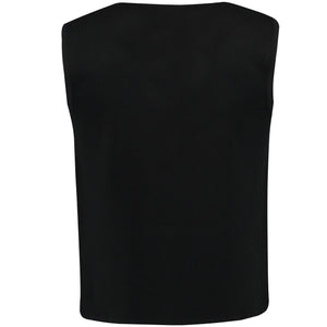 Back perspective of black vest