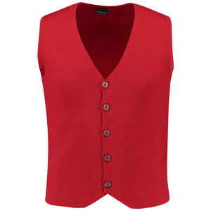 Front perspective of red vest