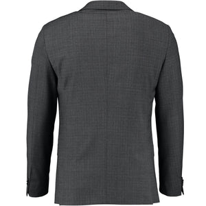 Back perspective for gray suit