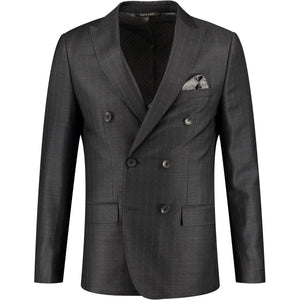 Dark gray suit