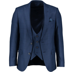Dark blue suit