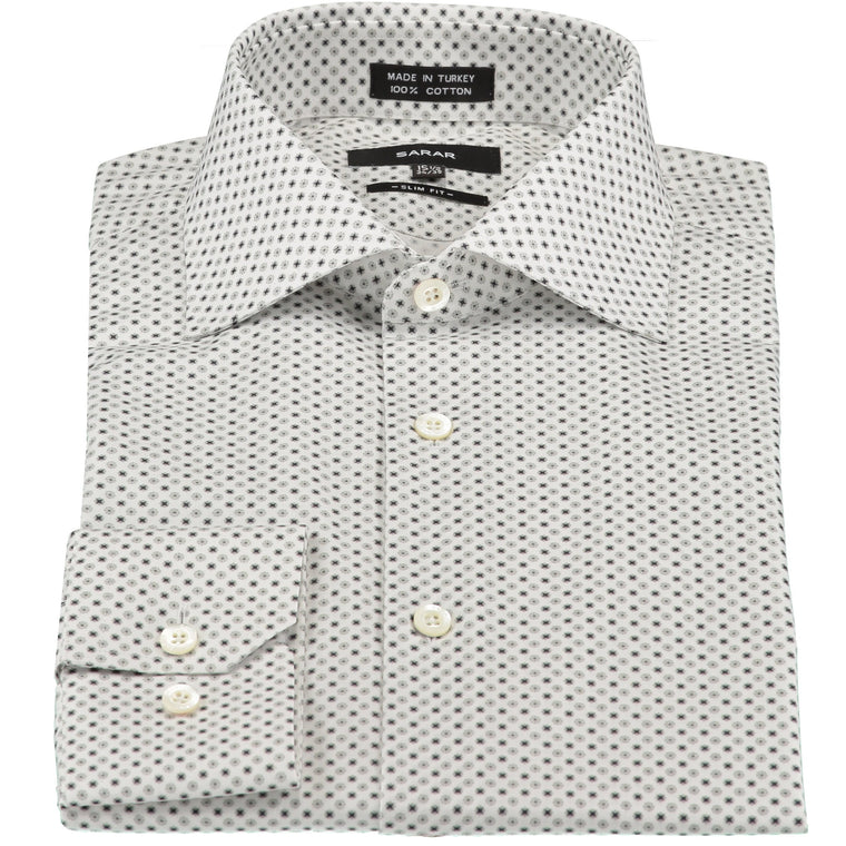 LIGHT GREY CUTAWAY (HAI PARICI) MICRO SHIRT