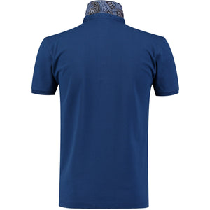 Back perspective for dark blue t-shirt