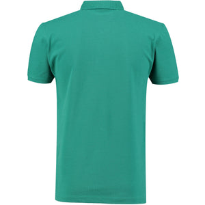 Back perspective for green t-shirt