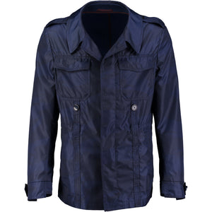 Dark blue trenchcoat