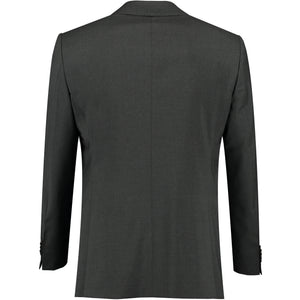 Back perspective of dark gray suits