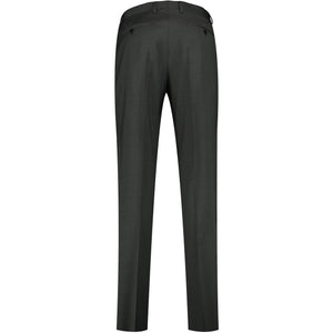 Back perspective of dark gray pants
